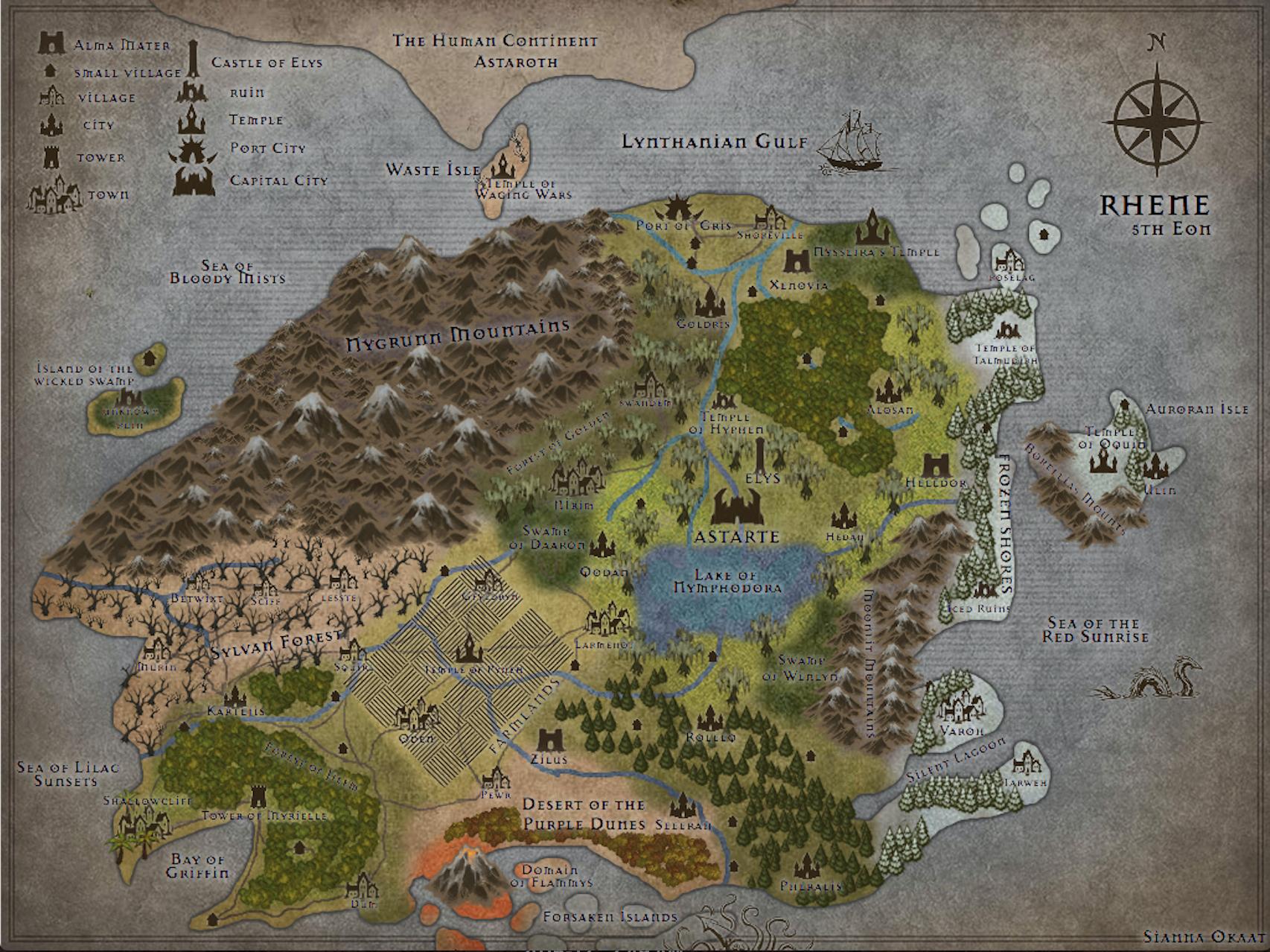 Map of Rhene